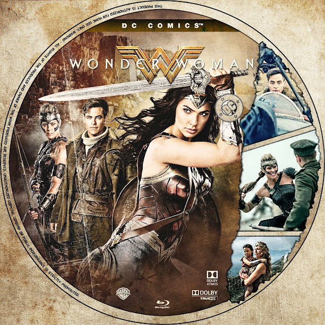 Wonder Woman Bluray Label