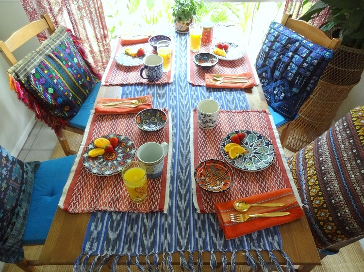 bohemian, global table setting