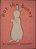 "The cover of ""Pat the Bunny."""