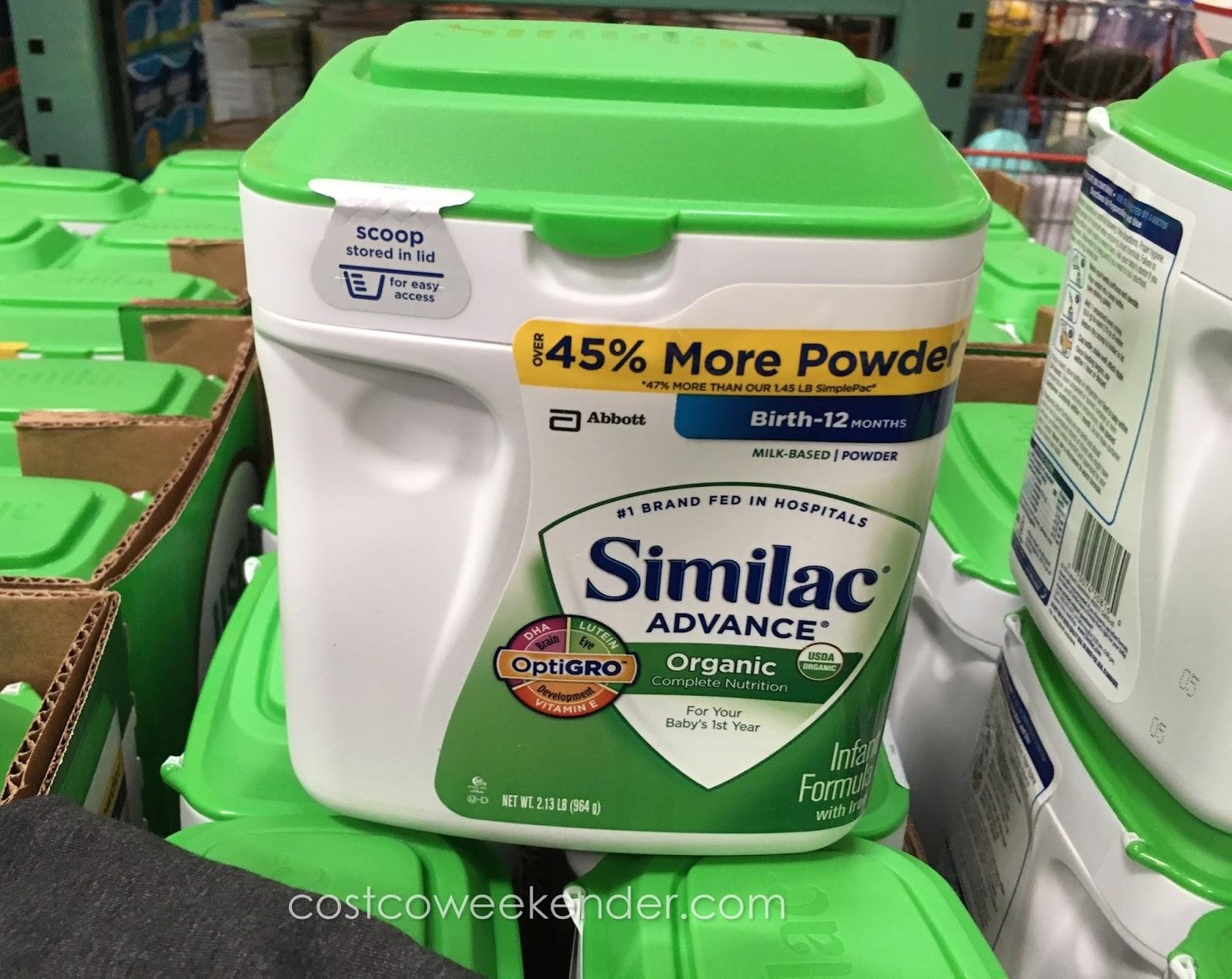 Similac Advance Organic Infant Formula Costco Weekender