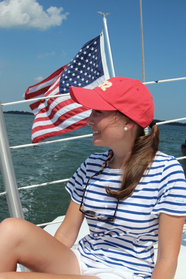 Gimme Glamour: Sailing on the Stars & Stripes. Patriotic outfit perfect for the Fourth of July.