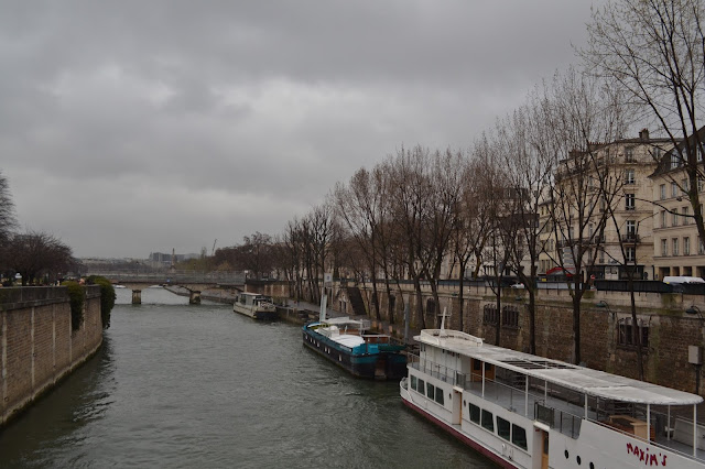 River Seine, by Notre Dame in Paris