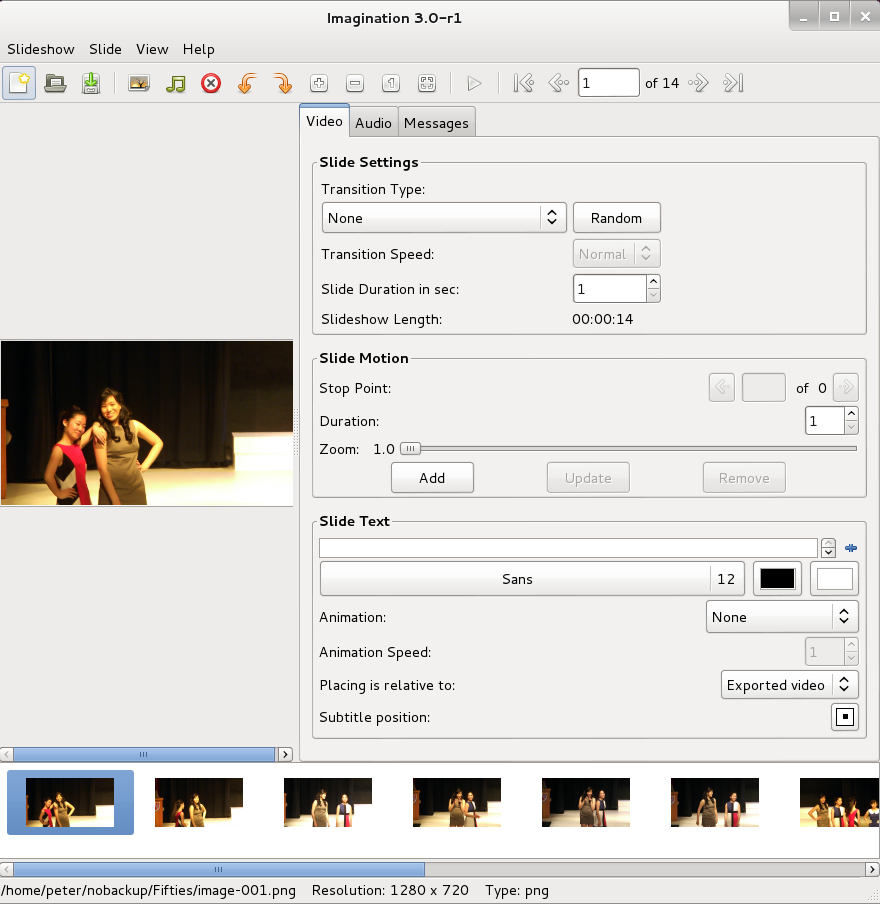 Linux Commando: Create slide show from pictures - part 2 (GUI)