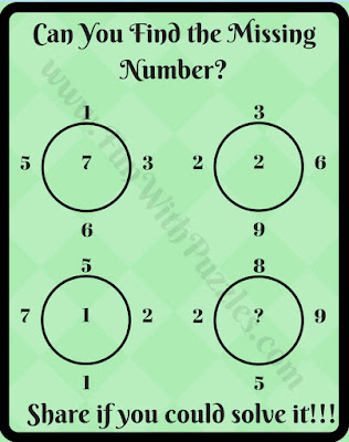 Find the missing number circle brain teaser