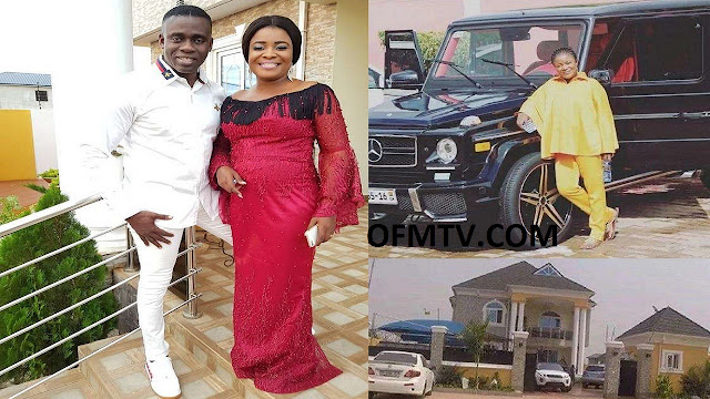 Award-winning Ghanaian gospel musician Ohemaa Mercy and her husband, Mr. Isaac Twum-Ampofo