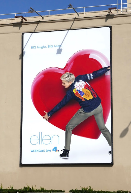 Ellen season 16 heart billboard WB Studios