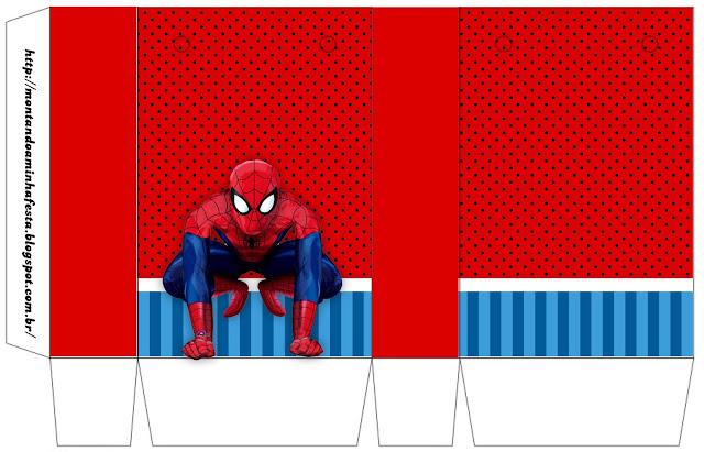 Cajas para Imprimir Gratis de Fiesta de Spiderman.