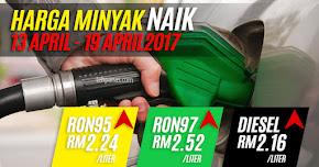 Thumbnail image for Harga Minyak Untuk 13 April Hingga 19 April 2017 Naik