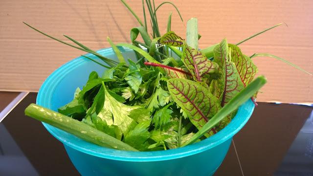 Kräutermischung für meine Salat- und Rohkost-Paste (c) by Joachim Wenk