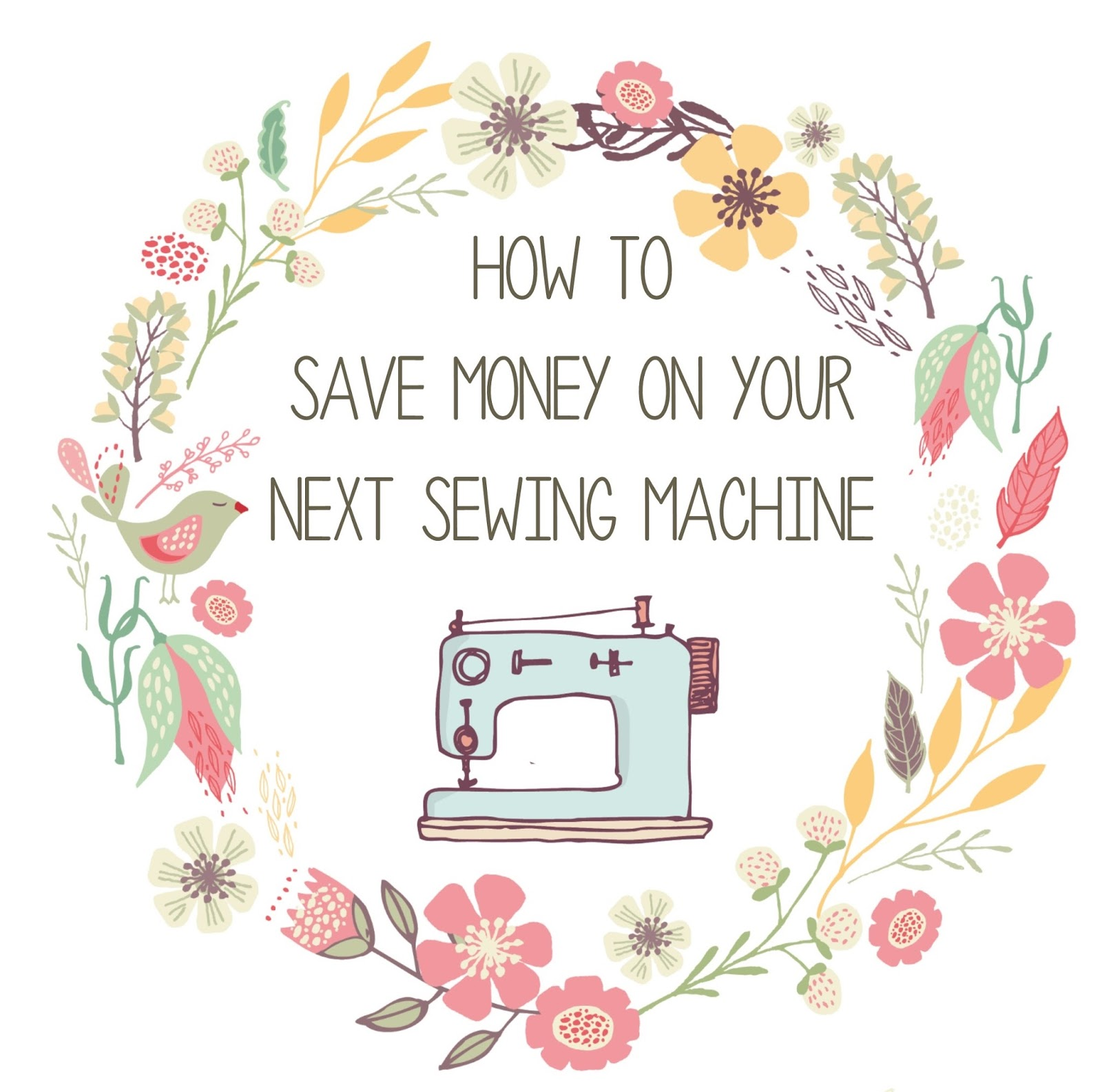 Sew at Home Mummy: How to save money when buying a sewing machine