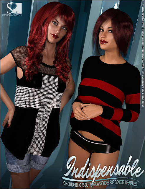 Genesis 8 Female MEGA Wardrobe Indispensable Textures