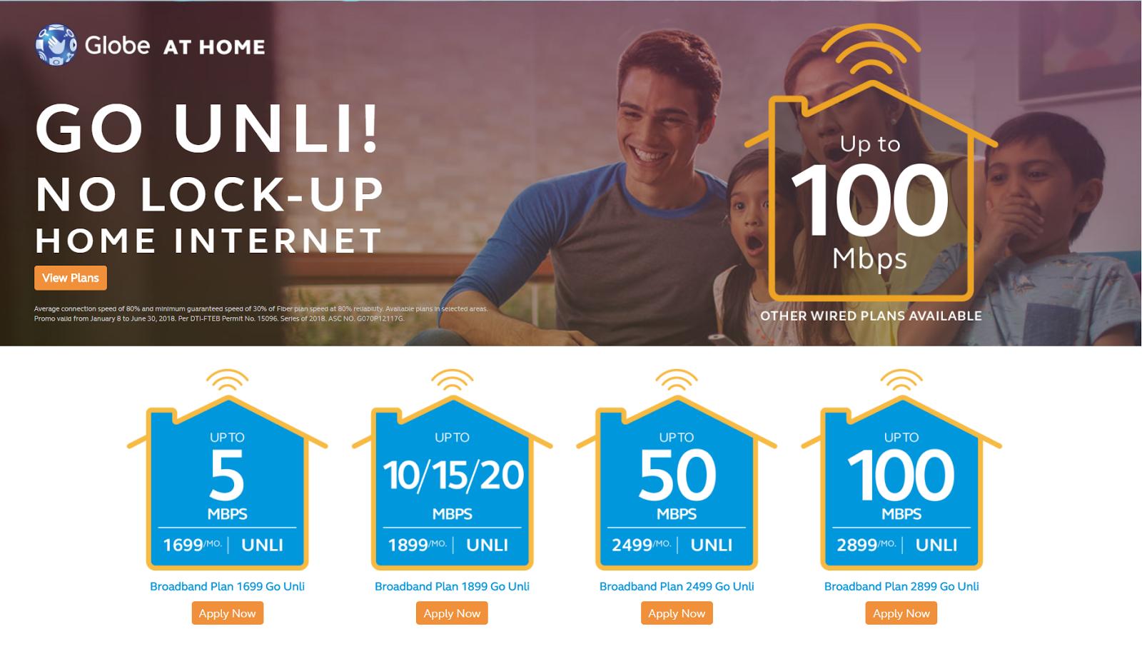 Globe Telecom Brings Back Unlimited Broadband Plans, PLDT ...