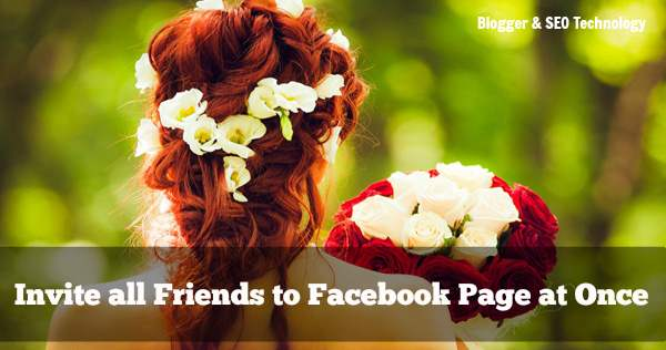 invite all facebook friends with single click to facebook page