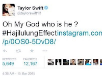 Taylor Swift, Justin Bieber, One Direction Nge twit #HajiLulungEffect
