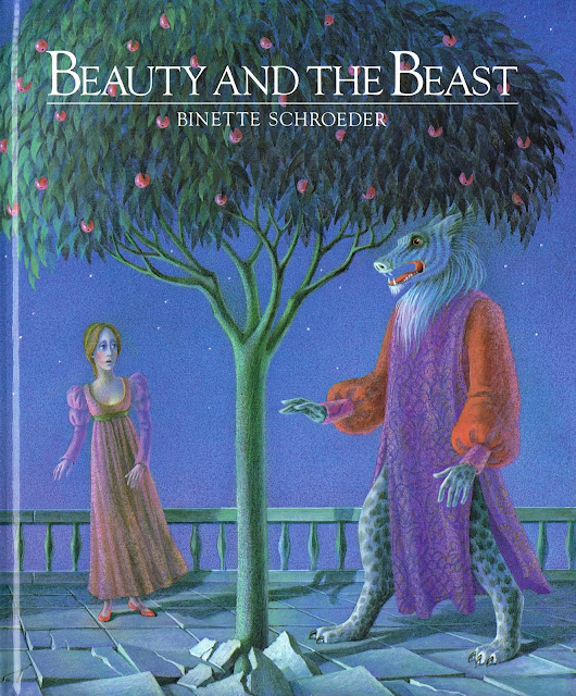 Beaumont, J. M. Leprince de, Beauty and the Beast, Die Schöne und das Tier, Illustrations, Schroeder, Binette, Binette Schroeder, Walker Books, London, 1986, First Edition