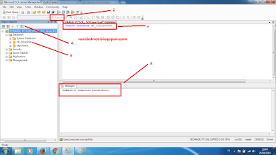 Membuat Database dengan Query di Sql Server 2005