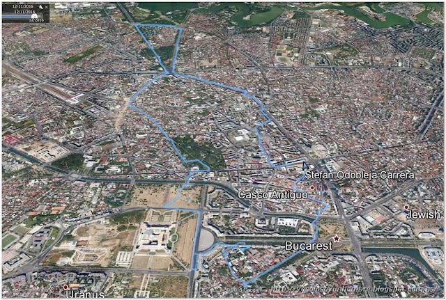 Mapa de la ruta en Bucarest