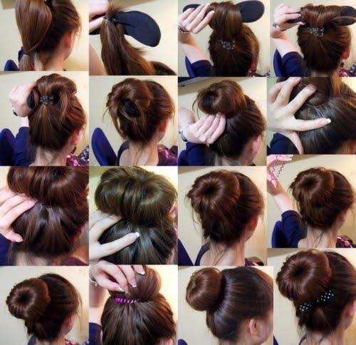 how to use a hair bun donut - photo #22