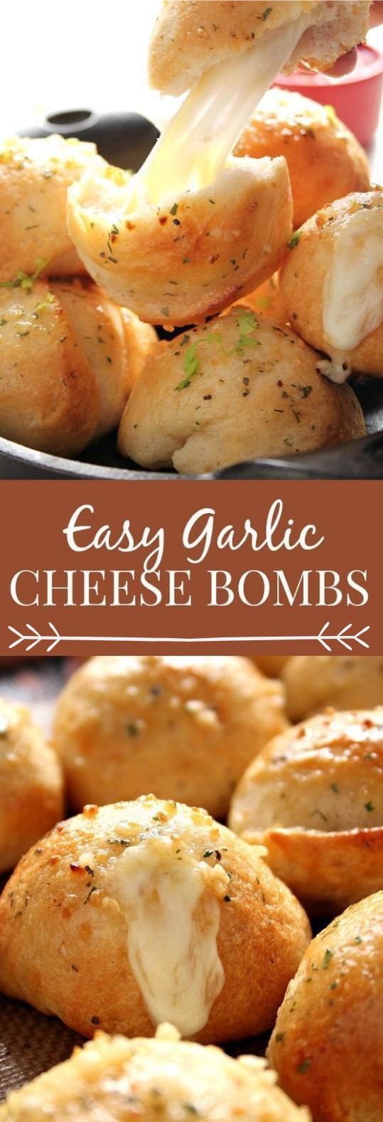 Easy Garlic Cheese Bombs Recipe #garlic #vegetarian