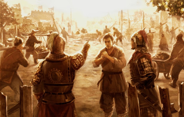 Chapter 10 : Gathering Arms, Ma Teng Moves To Rescue The Emperor; Commanding A Force, Cao Cao Marches To Avenge His Father.