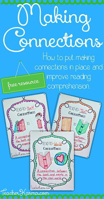 How to Put Making Connections in Place to Improve  Reading Comprehension TeacherKarma.com
