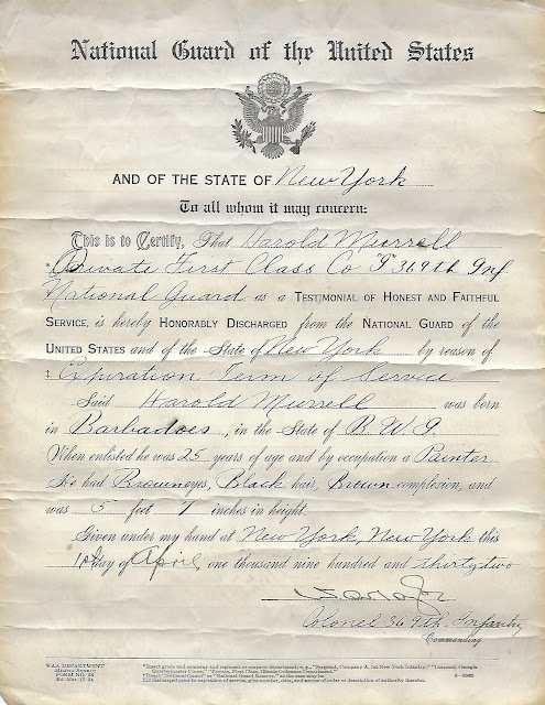 Amanuensis Monday:  Grandpa Murrell's National Guard Discharge Papers --How Did I Get Here? My Amazing Genealogy Journey