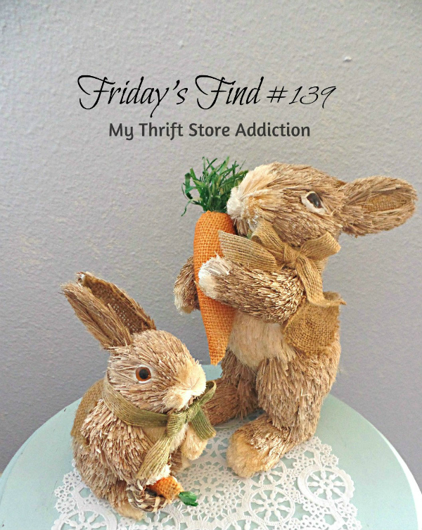 Friday's Find #139 mythriftstoreaddiction.blogspot.com This week's fab finds including these sweet bunnies!