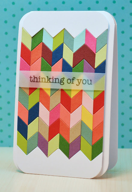 image diy tutorial chevron card deconstructed chevrons ribbon girls jj bolton
