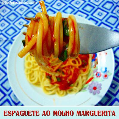 Espaguete ao molho marguerita