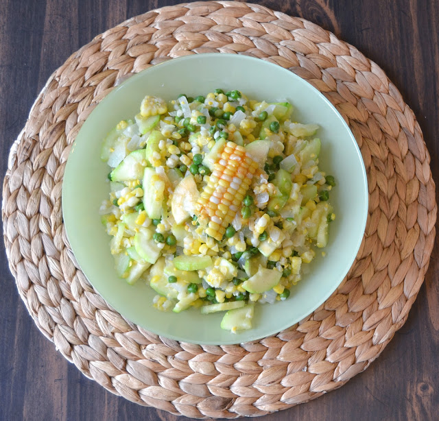 Zucchini and Fresh Corn Succotash recipe