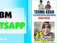 DP BBM dan WA Gerak Hari Guru Nasional 25 November
