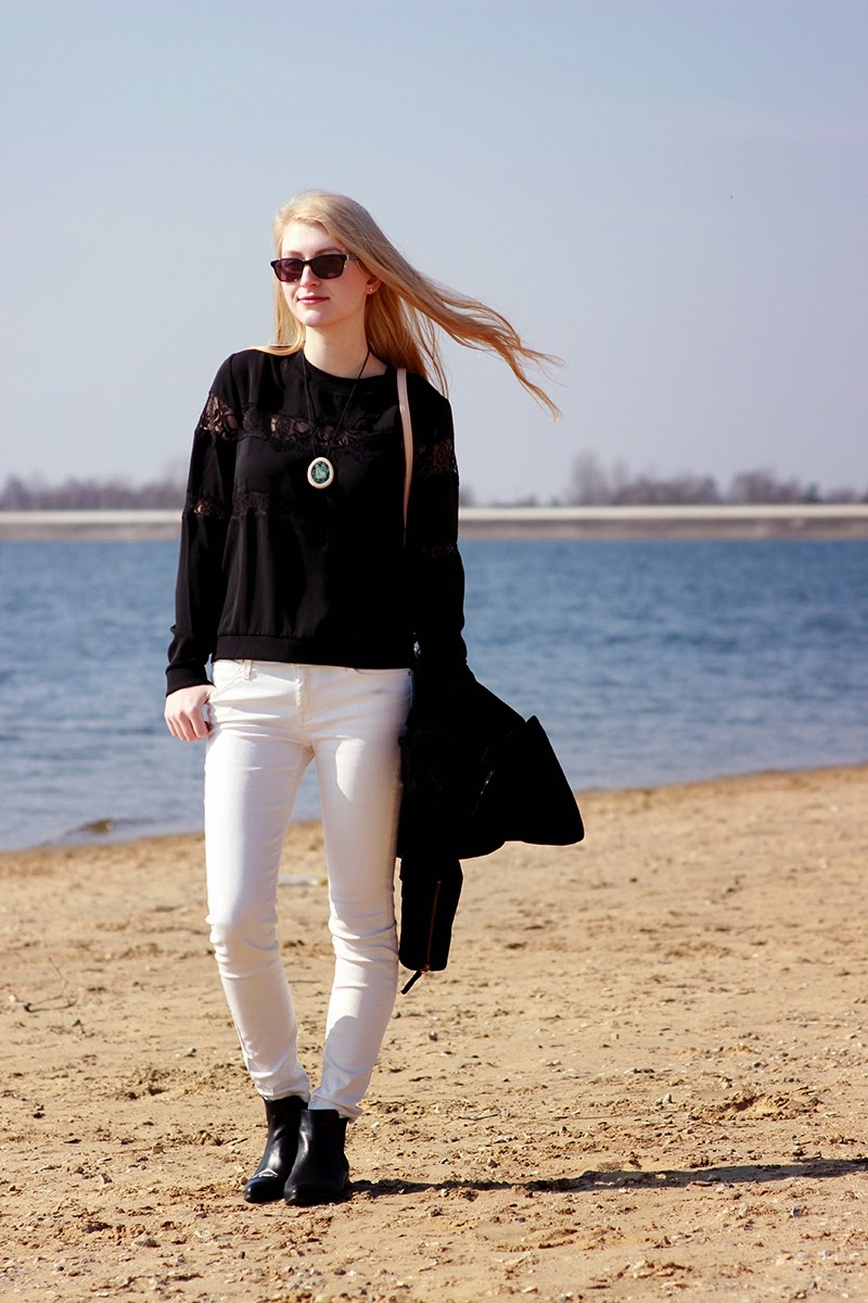LOOK OF THE DAY Black&White SimplyTheBest Blog created by Ewa Sularz