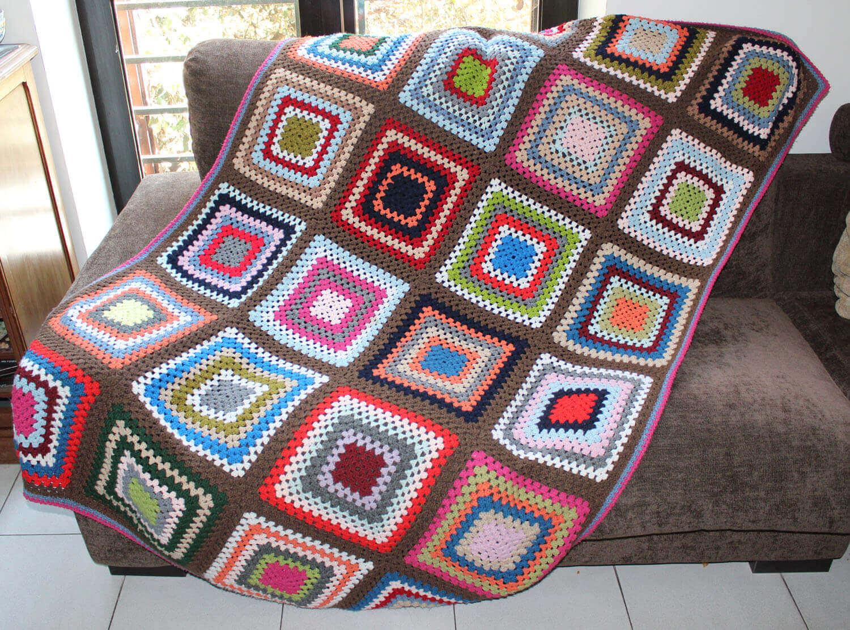 Colchas y cobertores fulares portabebes kangutingo - Hacer manta de ganchillo ...