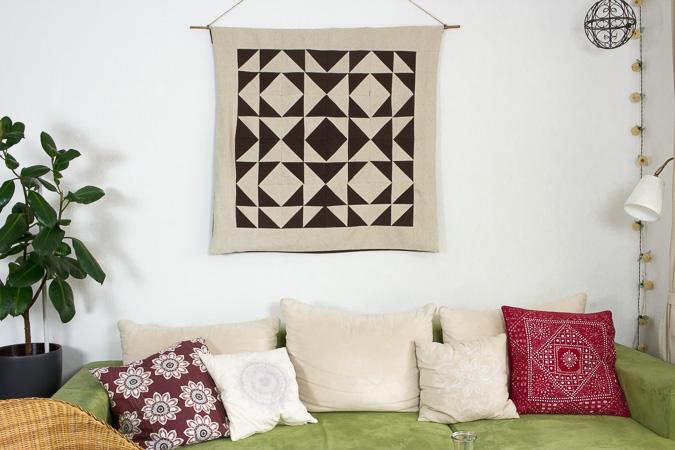 DIY und Nachhaltigkeit | Wandteppich mit geometrischem Muster