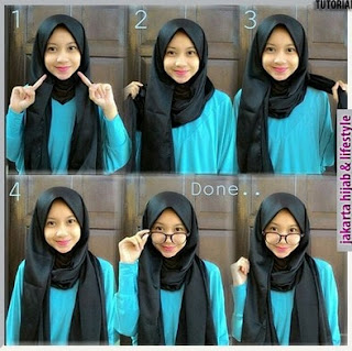 tutorial pashmina satin