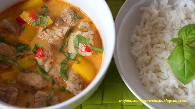 curry z ryżem