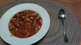 Fertiges Chili con Carne im Teller