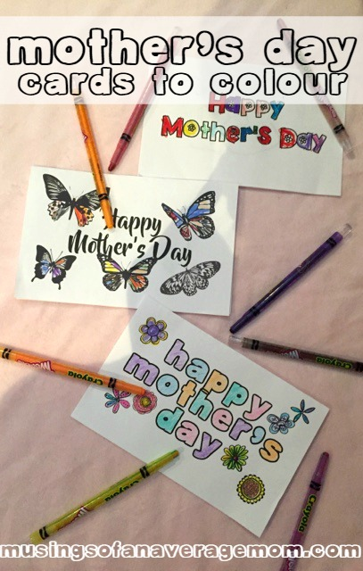 Musings of an Average Mom: Mothers Day Cards to Colour