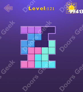 Cheats, Solutions, Walkthrough for Move Blocks Easy Level 121