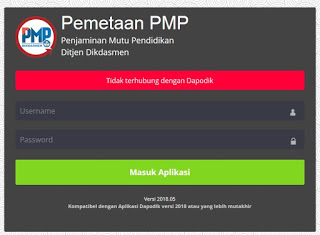 Cara Mengatasi Aplikasi PMP 2018.07 Tidak Terhubung Dengan Dapodik Versi 2019