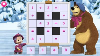 Masha dan Beruang. Game Edukasi.