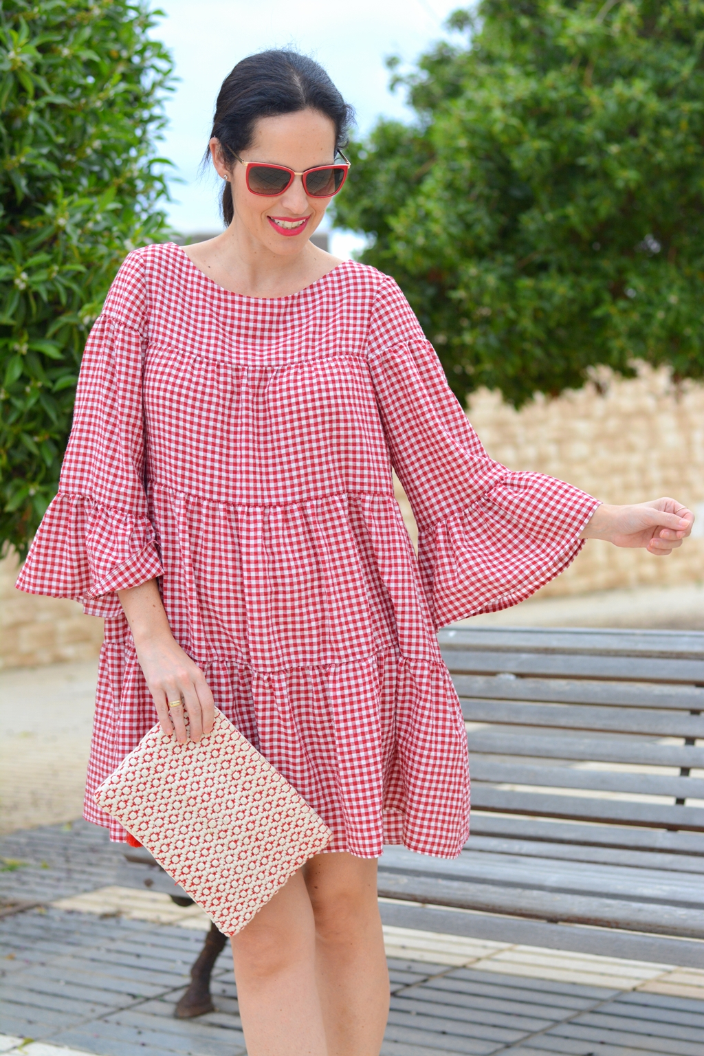 zara-gingham-mini-dress
