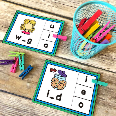 short vowel activity cards