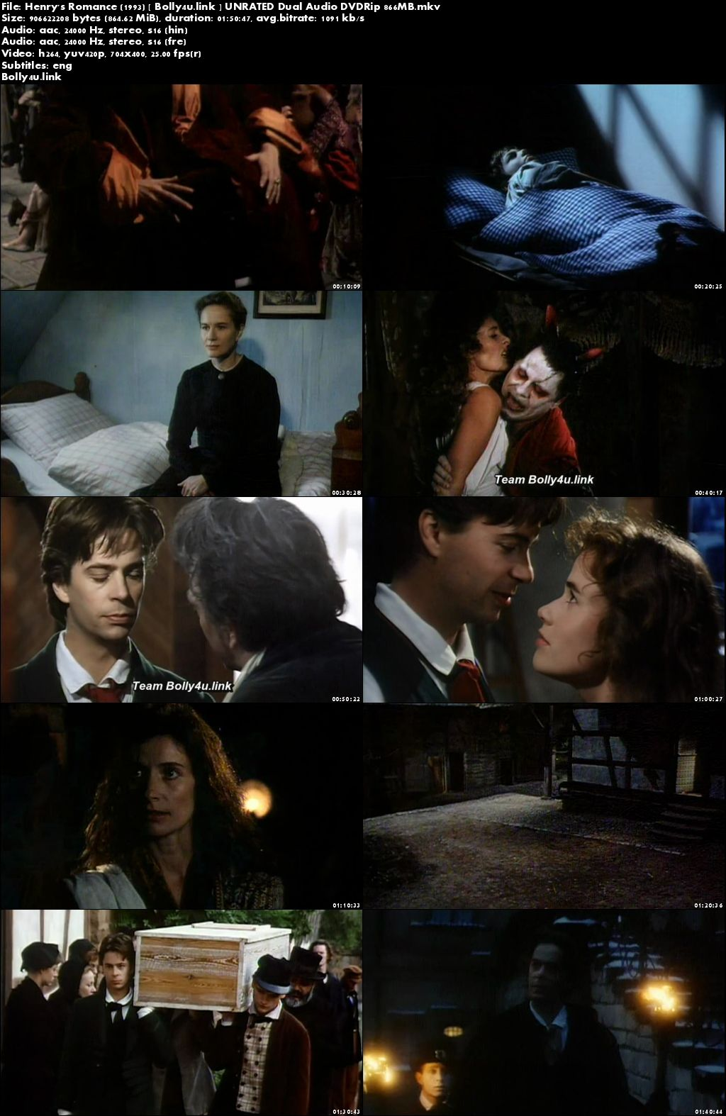 Henrys Romance 1993 DVDRip 350MB UNRATED Hindi Dual Audio 480p Download