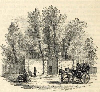 The entrance to the Ranger's Lodge  from The story of the London Parks by J Larwood (1874)