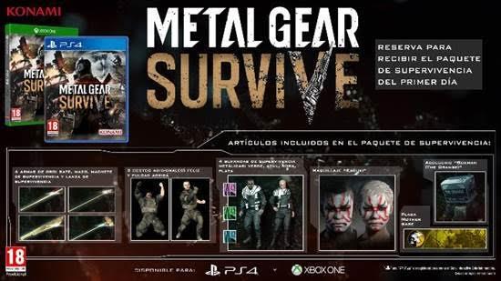 Metal Gear Survive llegará el próximo 22 de febrero