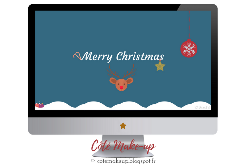 Fond d'écran Merry Christmas by Cotemakeup #WallPaperCôtéMU