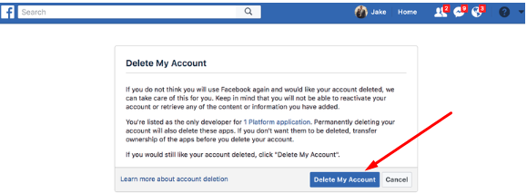 How To Deactivate Facebook Account Permanently Steps<br/>