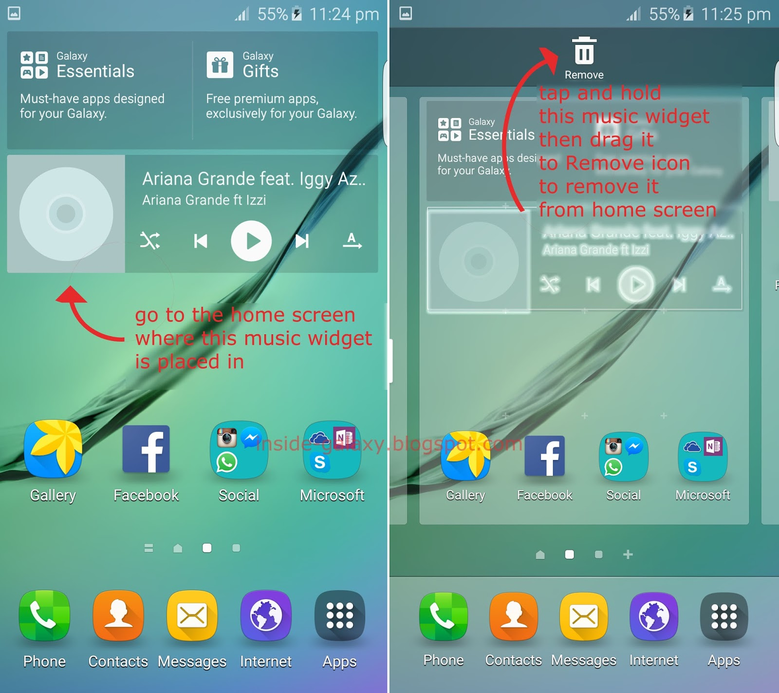 Samsung Galaxy S6 Edge: How to Add or Remove Widget in ...