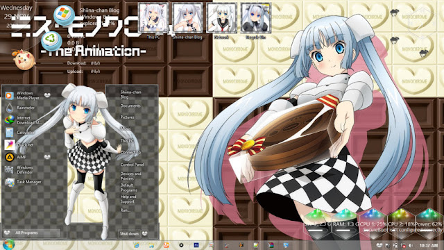 Windows 8.1 Theme Miss Monochrome by Andrea_37